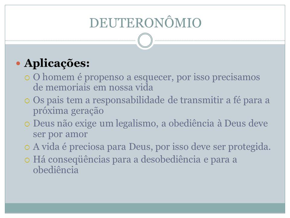 DEUTERONÔMIO Aplicações:
