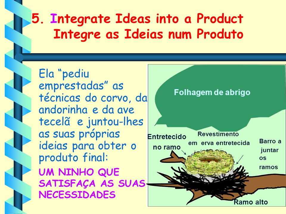 5. Integrate Ideas into a Product Integre as Ideias num Produto
