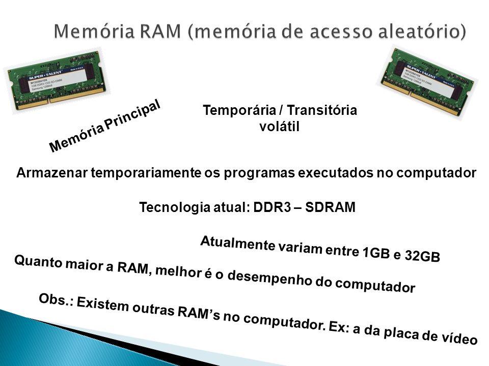 Memória RAM (memória de acesso aleatório)