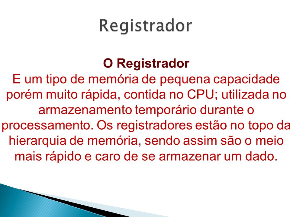 Registrador O Registrador
