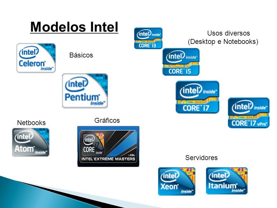 Modelos Intel Usos diversos (Desktop e Notebooks) Básicos Gráficos