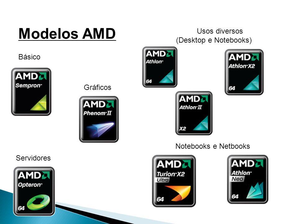 Modelos AMD Usos diversos (Desktop e Notebooks) Básico Gráficos