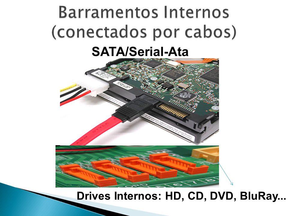 Barramentos Internos (conectados por cabos)
