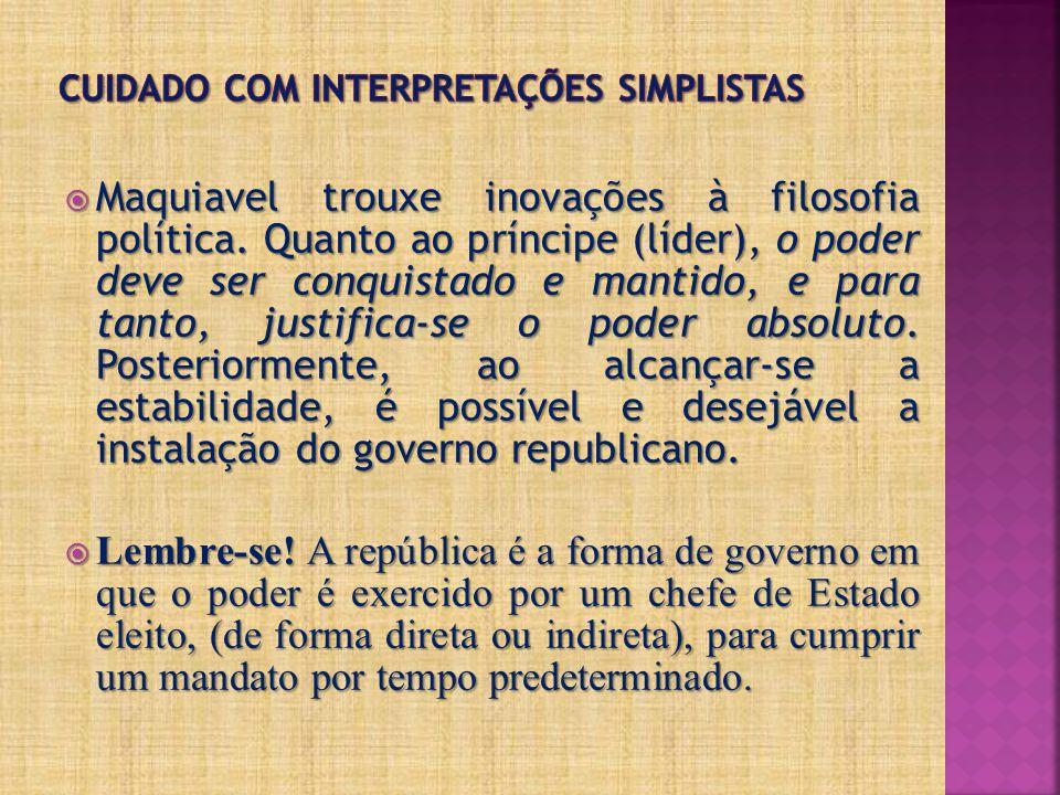 Cuidado com interpretações simplistas
