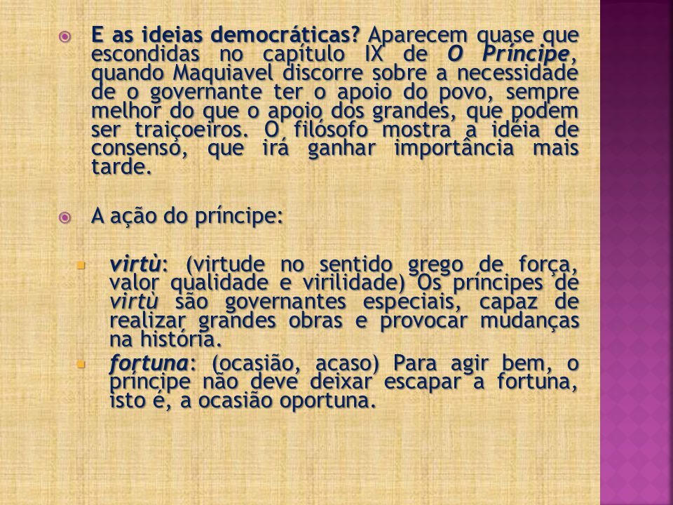 E as ideias democráticas