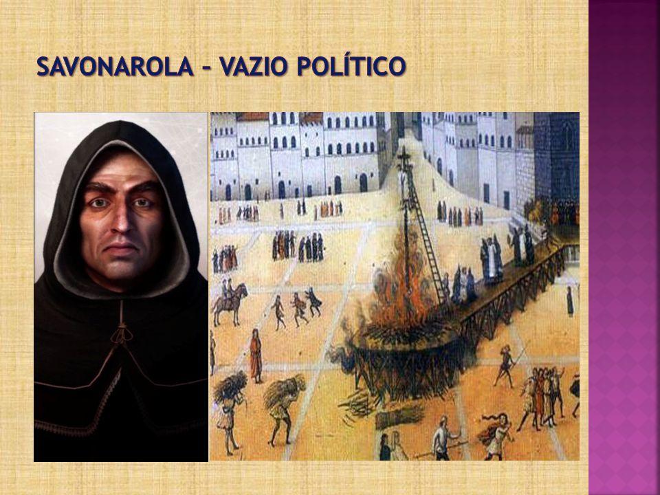 Savonarola – vazio político