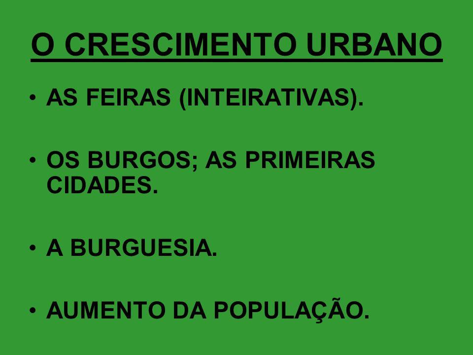 O CRESCIMENTO URBANO AS FEIRAS (INTEIRATIVAS).
