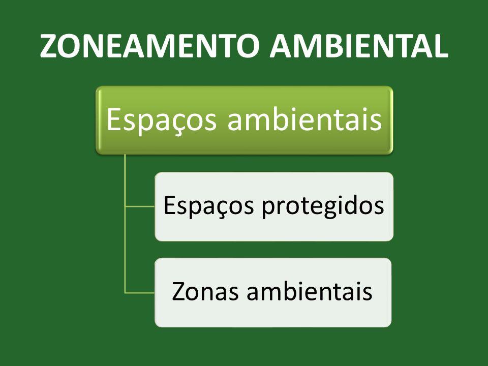 ZONEAMENTO AMBIENTAL Espaços ambientais Espaços protegidos