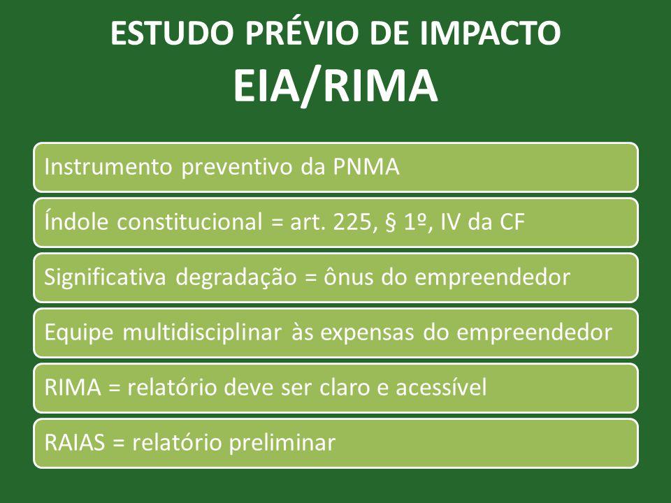 ESTUDO PRÉVIO DE IMPACTO EIA/RIMA