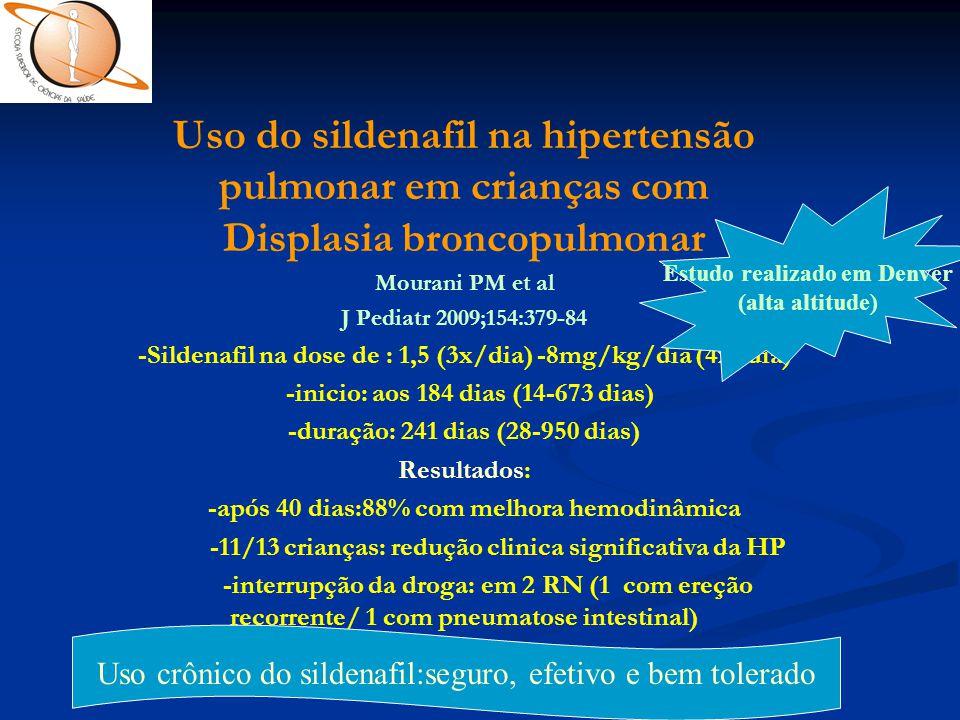 Uso do sildenafil na hipertensão pulmonar em crianças com Displasia broncopulmonar