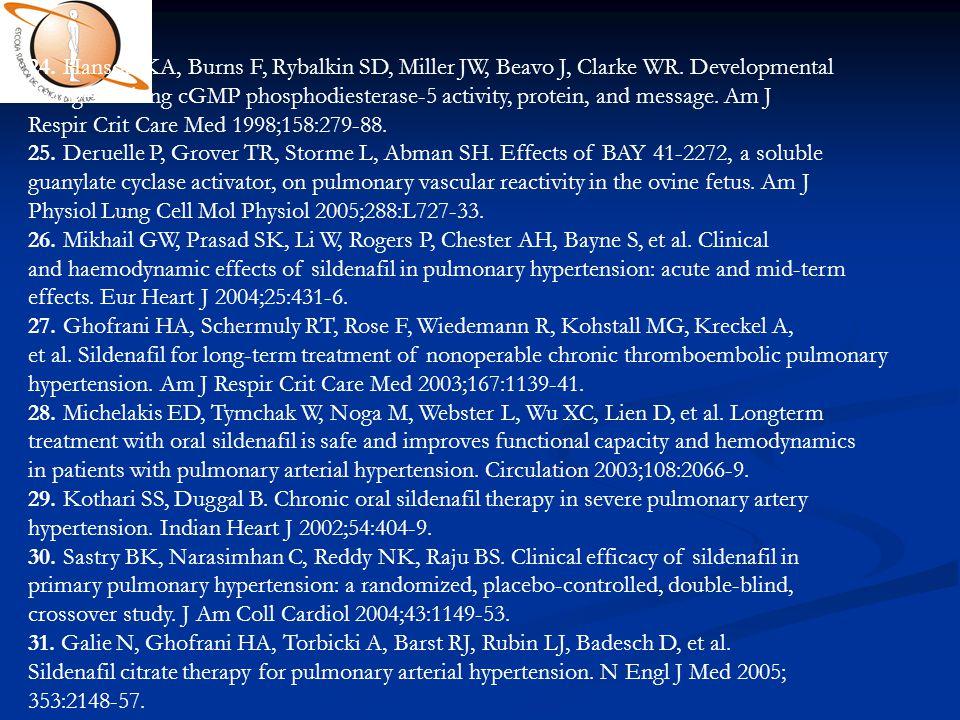 24. Hanson KA, Burns F, Rybalkin SD, Miller JW, Beavo J, Clarke WR