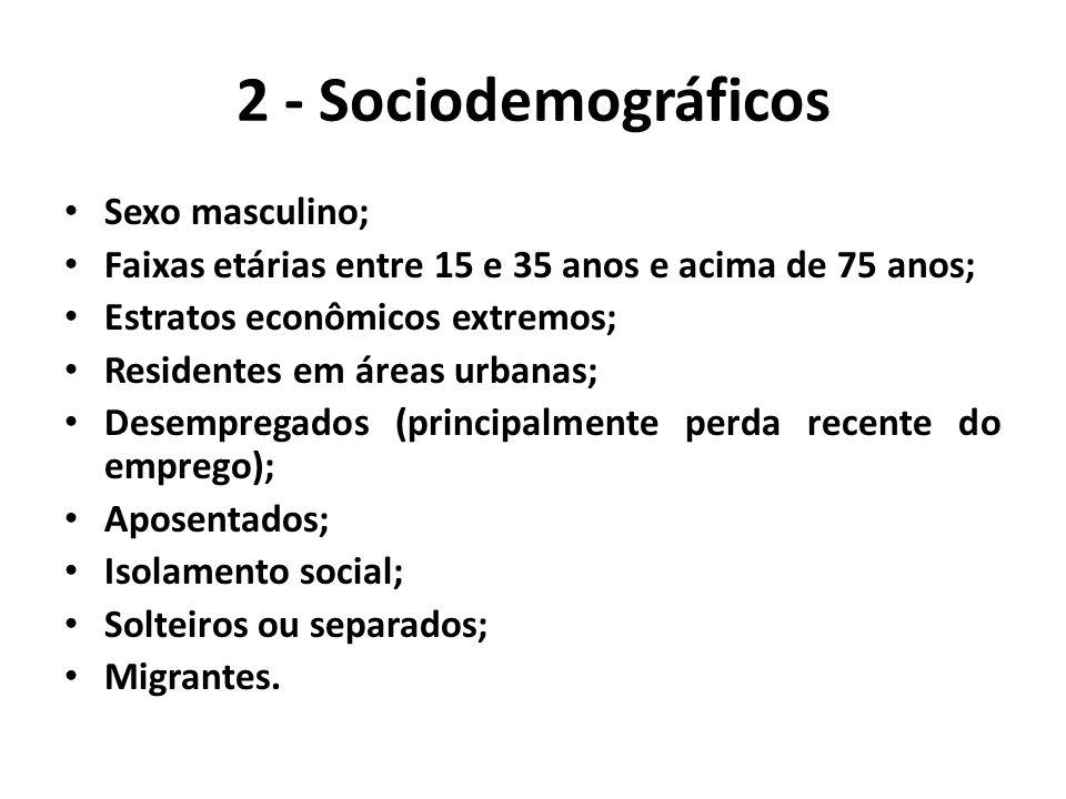 2 - Sociodemográficos Sexo masculino;