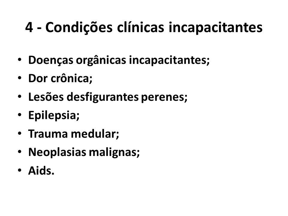 4 - Condições clínicas incapacitantes