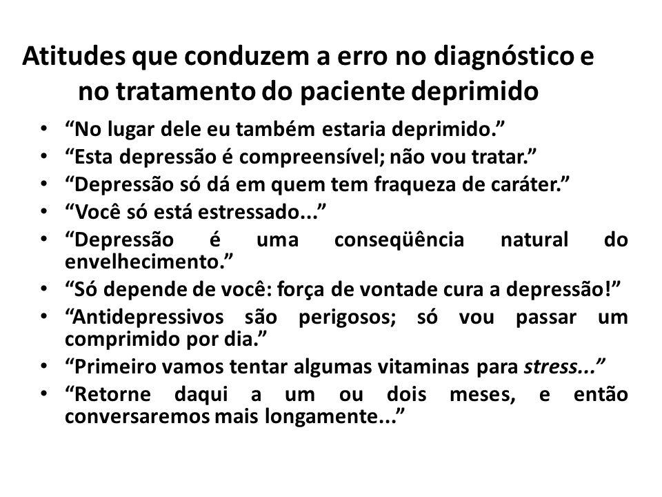 Atitudes que conduzem a erro no diagnóstico e no tratamento do paciente deprimido