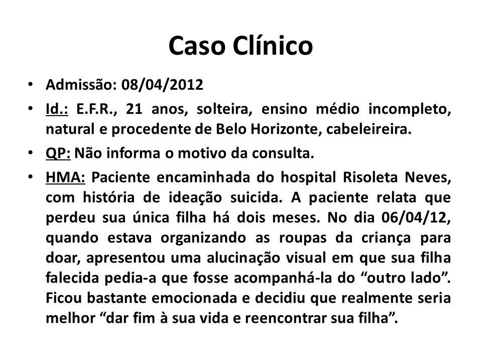 Caso Clínico Admissão: 08/04/2012
