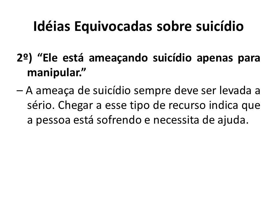 Idéias Equivocadas sobre suicídio