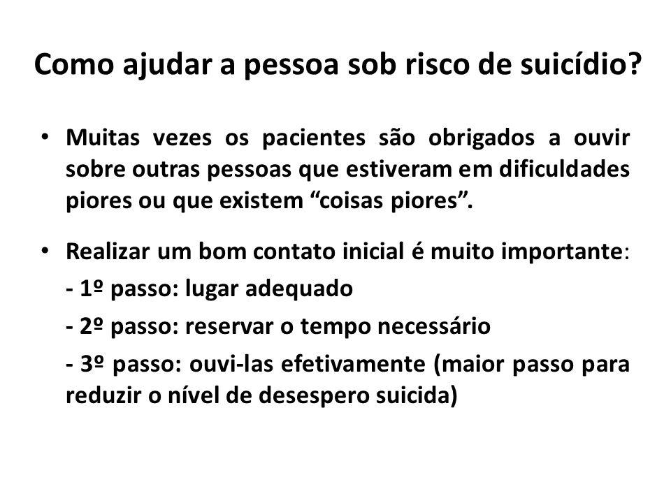 Como ajudar a pessoa sob risco de suicídio