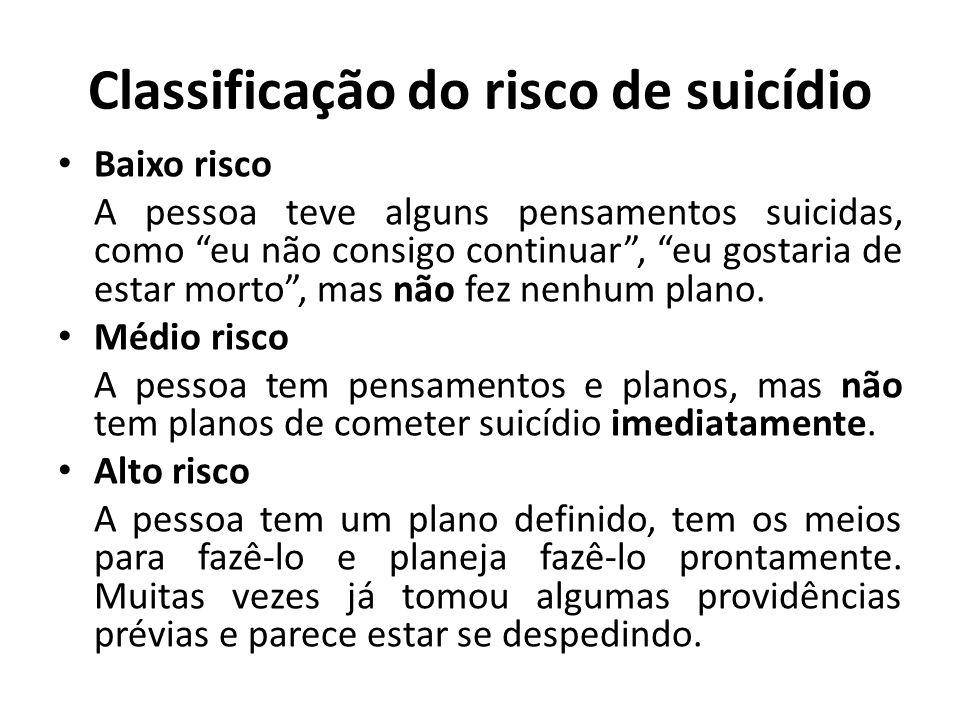 Classificação do risco de suicídio