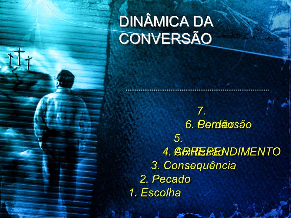 DINÂMICA DA CONVERSÃO 7. Conversão 6. Perdão 5. Confissão
