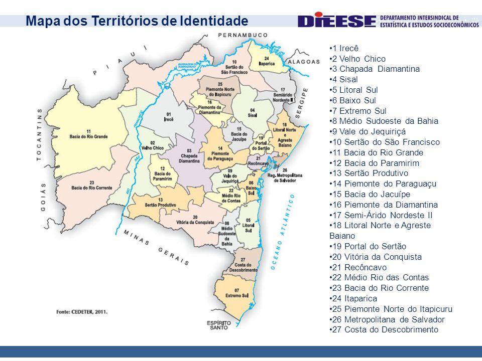Mapa dos Territórios de Identidade