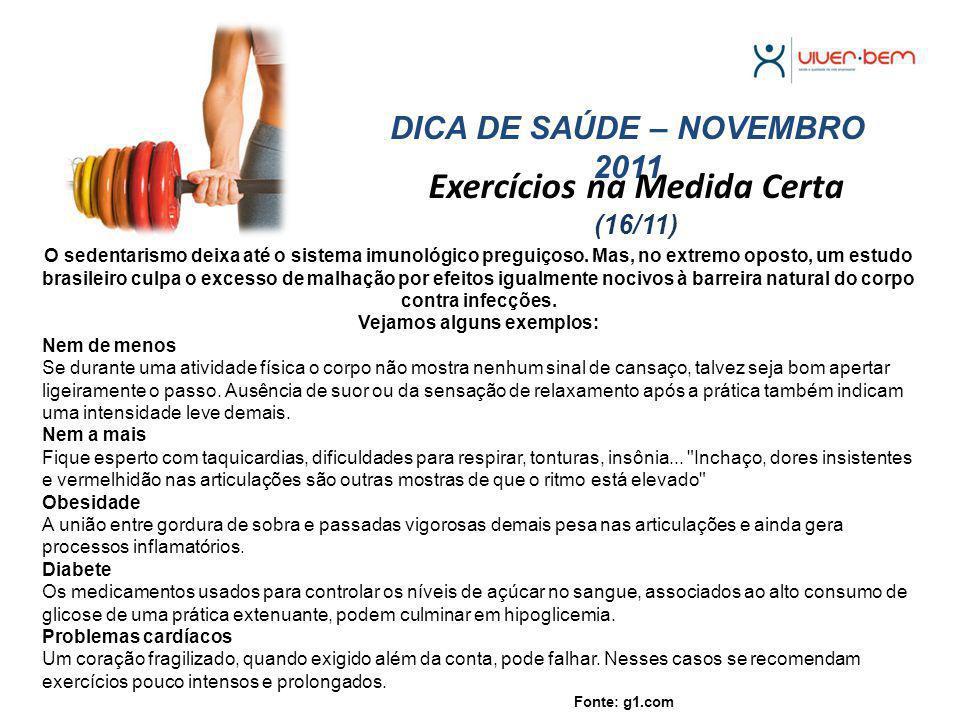 Exercícios na Medida Certa (16/11)