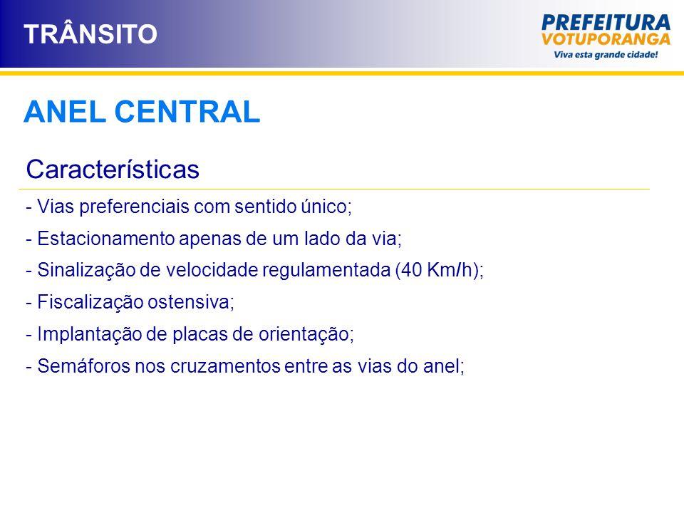 ANEL CENTRAL TRÂNSITO Características