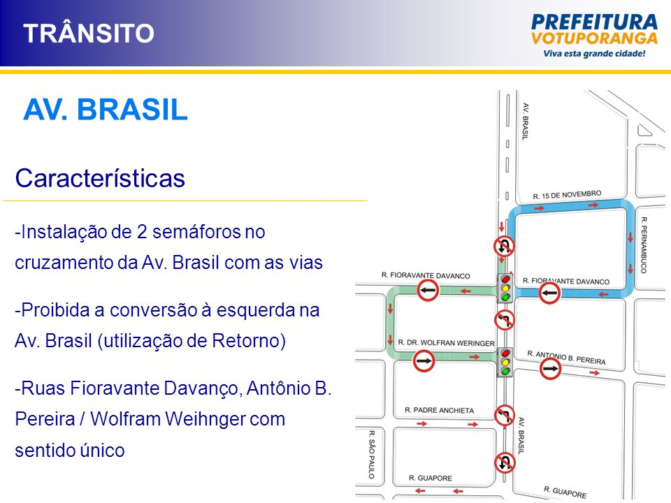 AV. BRASIL TRÂNSITO Características