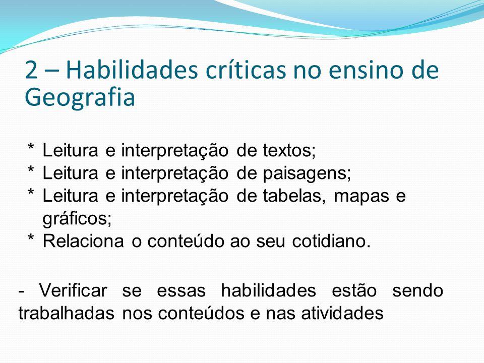 2 – Habilidades críticas no ensino de Geografia