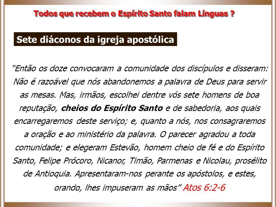 Sete diáconos da igreja apostólica
