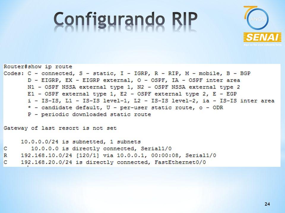 Configurando RIP