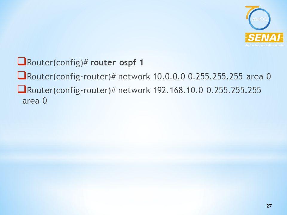 Router(config)# router ospf 1