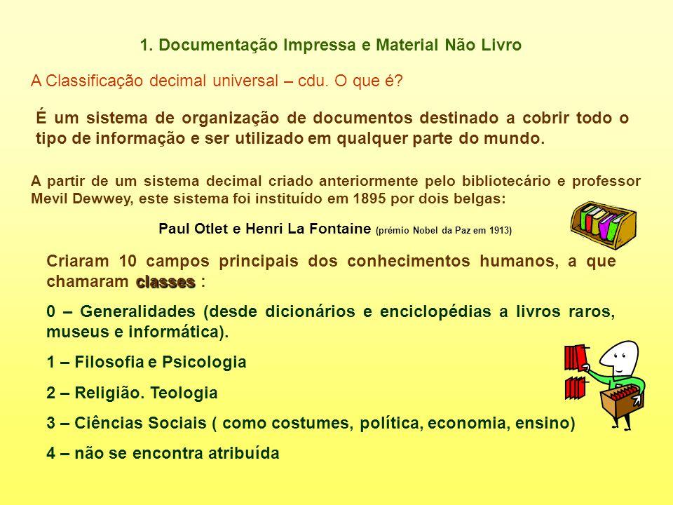 1. Documentação Impressa e Material Não Livro