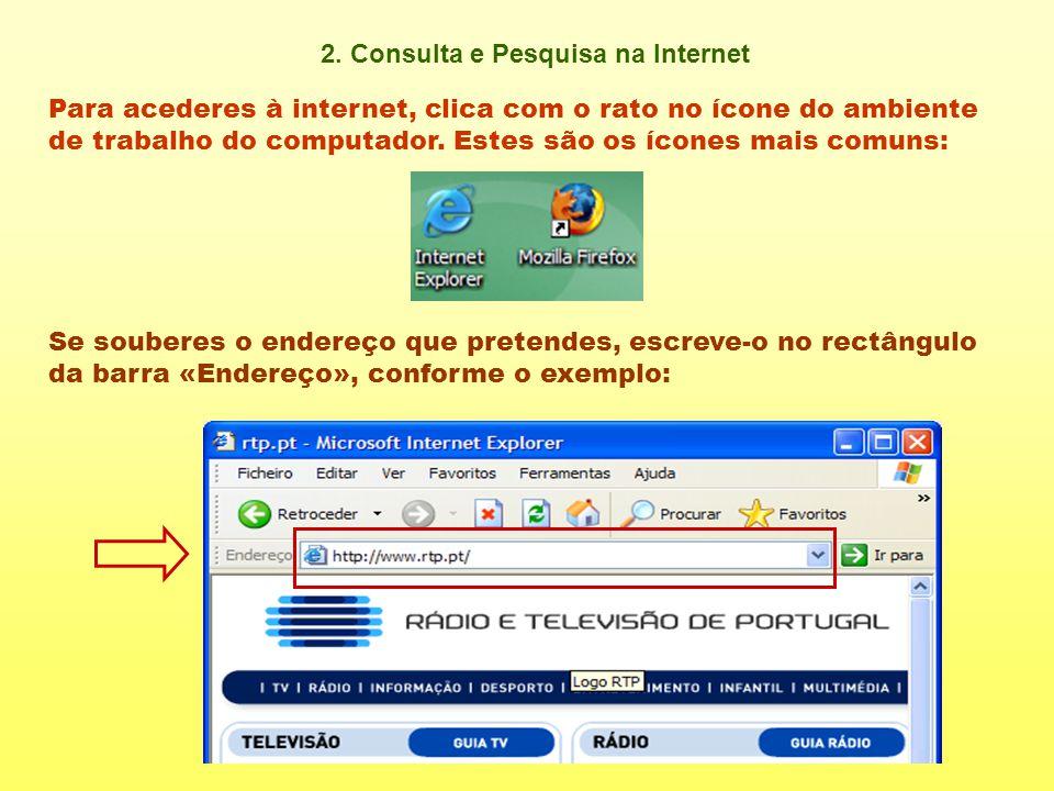 2. Consulta e Pesquisa na Internet