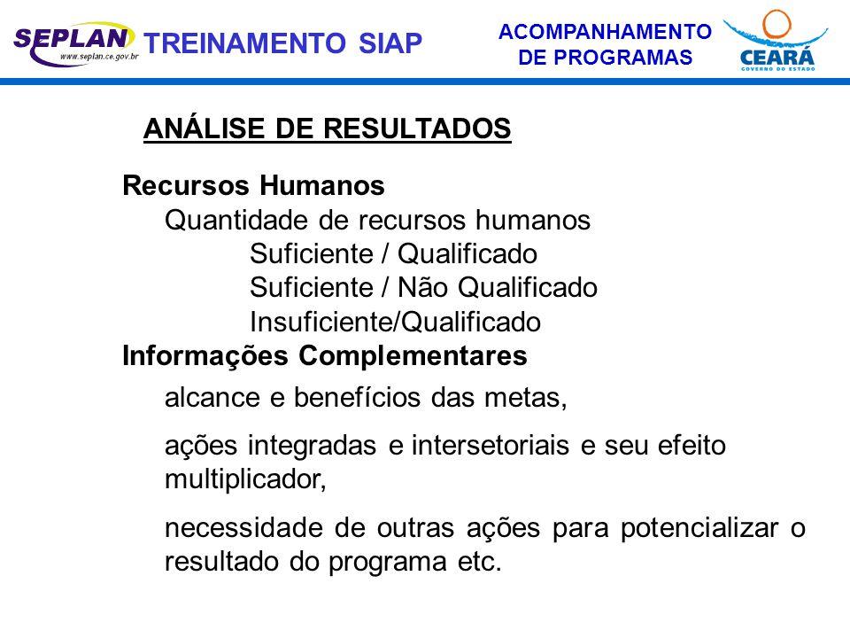 ACOMPANHAMENTO DE PROGRAMAS