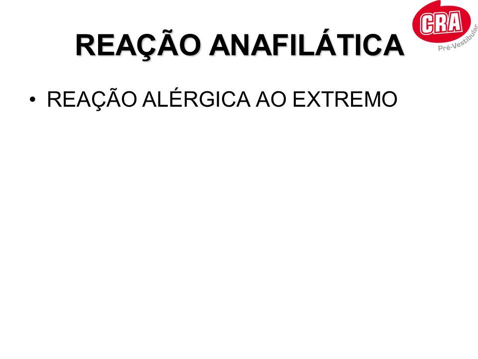 REAÇÃO ANAFILÁTICA REAÇÃO ALÉRGICA AO EXTREMO