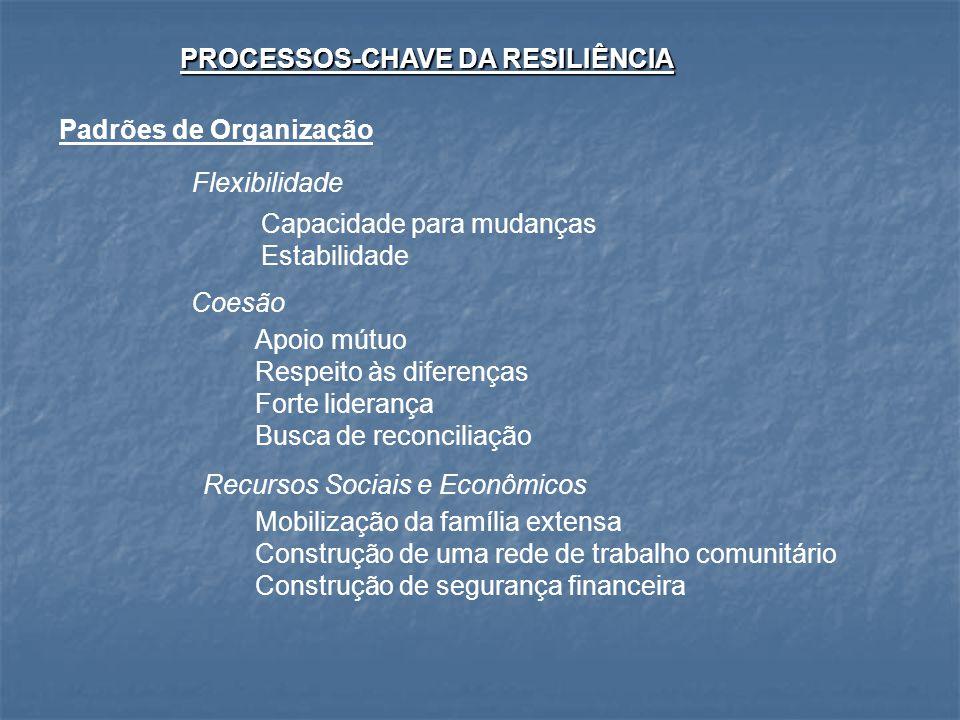 PROCESSOS-CHAVE DA RESILIÊNCIA
