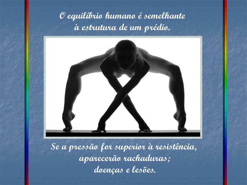 O equilíbrio humano é semelhante à estrutura de um prédio.