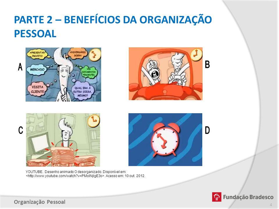 PARTE 2 – BENEFÍCIOS DA ORGANIZAÇÃO PESSOAL