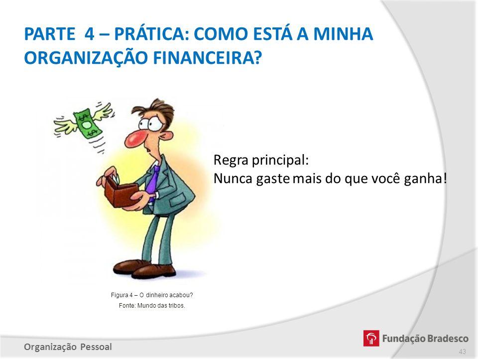 PARTE 4 – PRÁTICA: COMO ESTÁ A MINHA ORGANIZAÇÃO FINANCEIRA