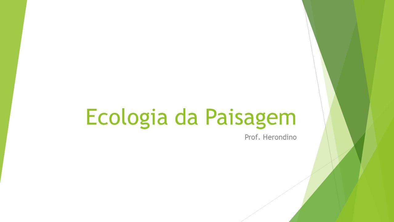Ecologia da Paisagem Prof. Herondino