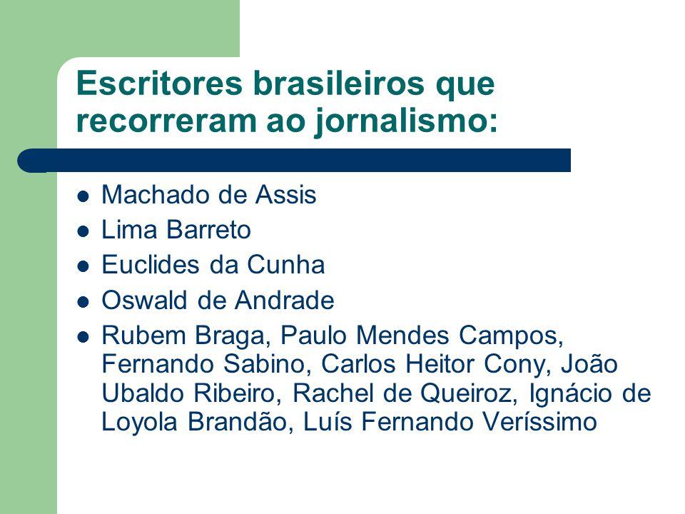 Escritores brasileiros que recorreram ao jornalismo: