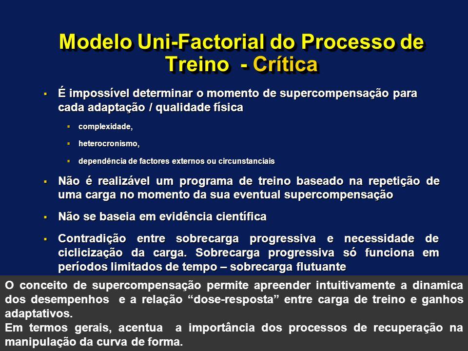 Modelo Uni-Factorial do Processo de Treino - Crítica