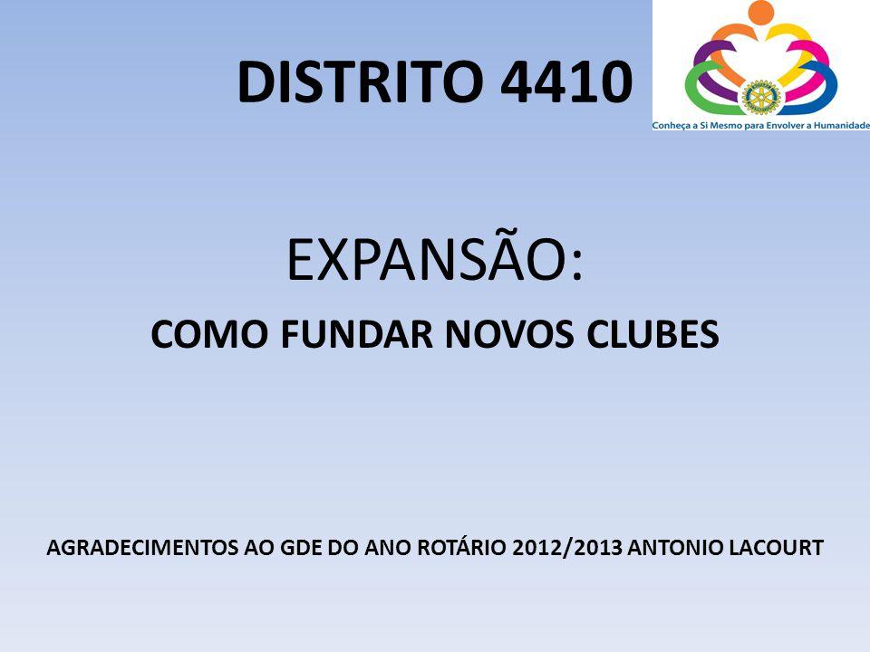 DISTRITO 4410 EXPANSÃO: COMO FUNDAR NOVOS CLUBES