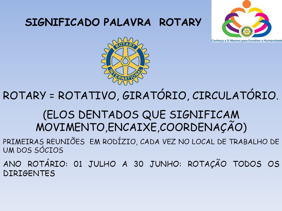 SIGNIFICADO PALAVRA ROTARY