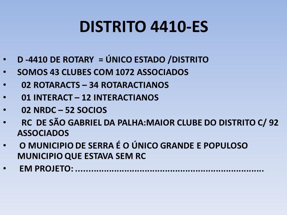 DISTRITO 4410-ES D -4410 DE ROTARY = ÚNICO ESTADO /DISTRITO