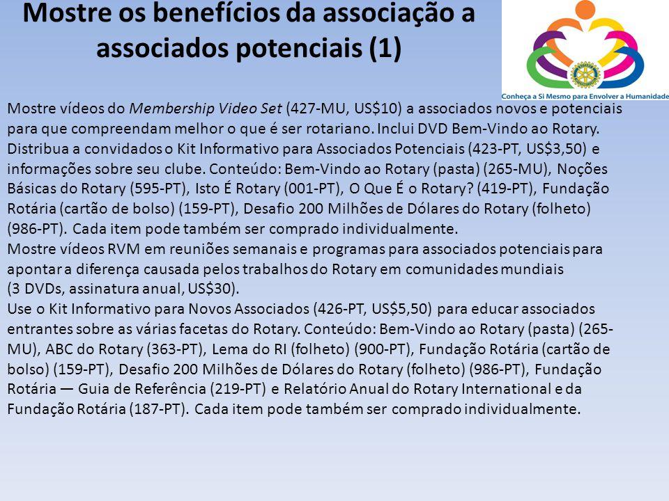 Mostre os benefícios da associação a associados potenciais (1)