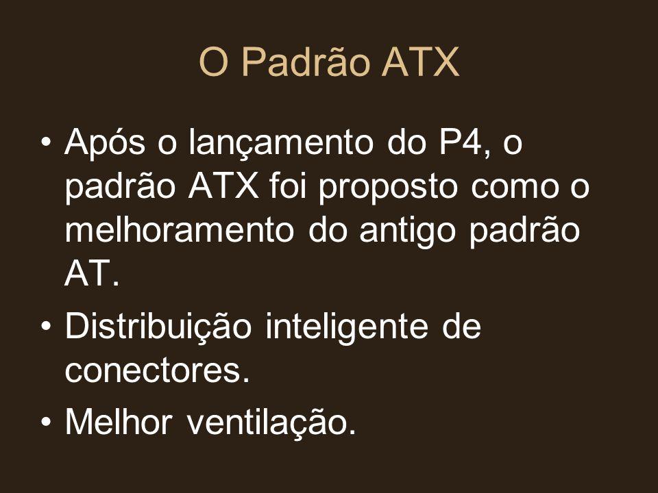O Padrão ATX Após o lançamento do P4, o padrão ATX foi proposto como o melhoramento do antigo padrão AT.