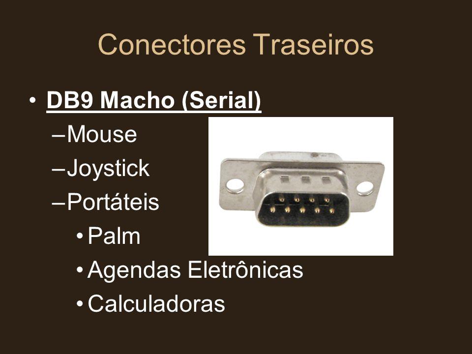 Conectores Traseiros DB9 Macho (Serial) Mouse Joystick Portáteis Palm
