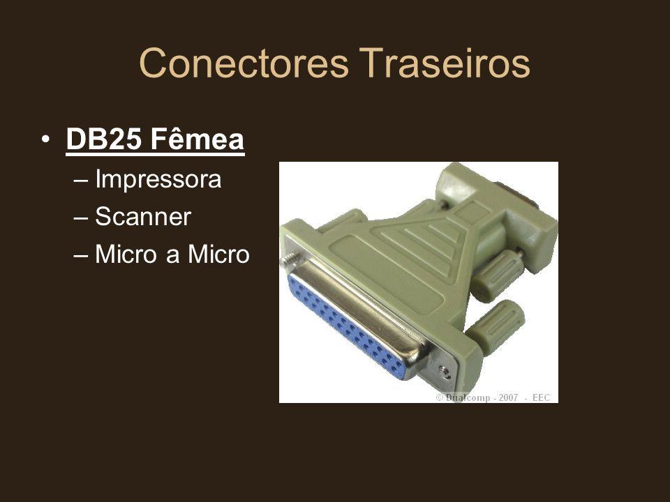 Conectores Traseiros DB25 Fêmea Impressora Scanner Micro a Micro