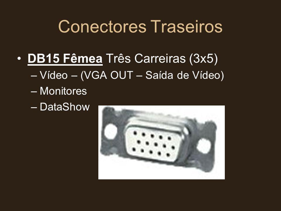 Conectores Traseiros DB15 Fêmea Três Carreiras (3x5)